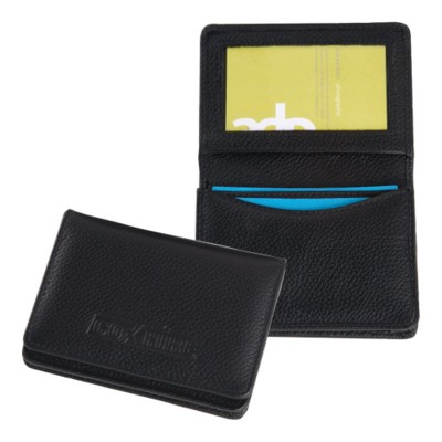 Picture of MELBOURNE NAPPA LEATHER BUSINESS CARD POCKET HOLDER in Black
