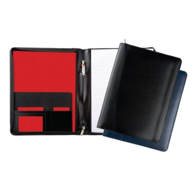 Picture of WARWICK GENUINE LEATHER A4 ZIP FOLDER in Black