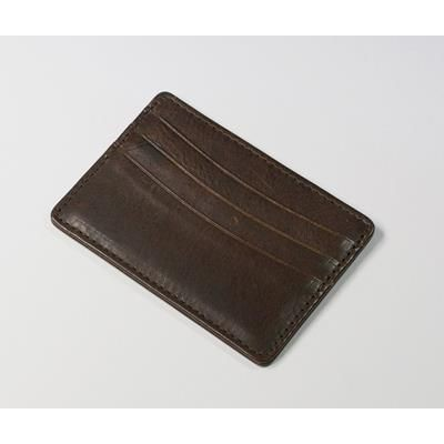 Picture of ASHBOURNE OIL PULL UP GENUINE LEATHER CARD WALLET