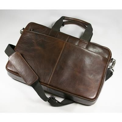 Picture of ASHBOURNE OIL PULL UP GENUINE LEATHER LAPTOP BAG