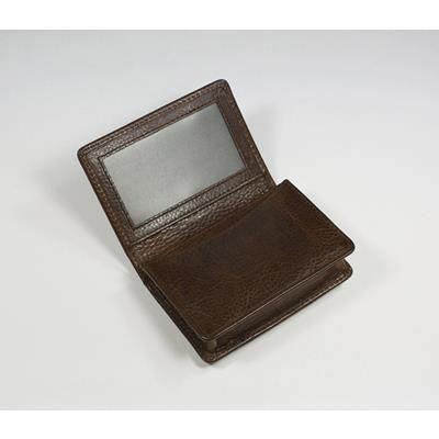 Picture of ASHBOURNE OIL PULL UP GENUINE LEATHER BUSINESS CARD WALLET