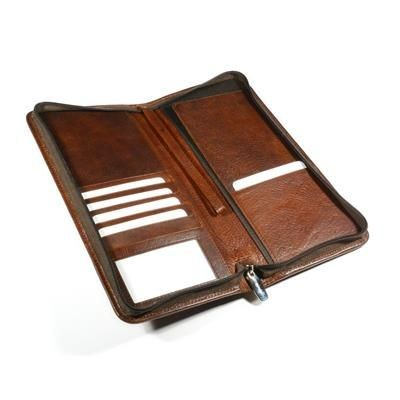 Picture of ASHBOURNE OIL PULL UP GENUINE LEATHER TRAVEL WALLET