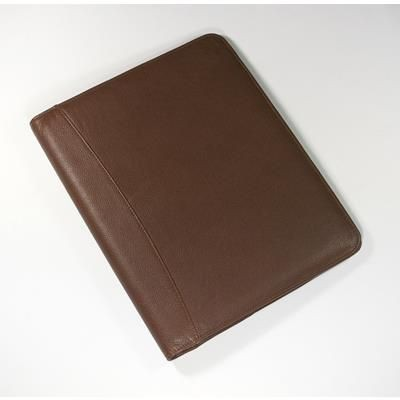 MELBOURNE NAPPA LEATHER A4 CONFERENCE FOLDER in Brown