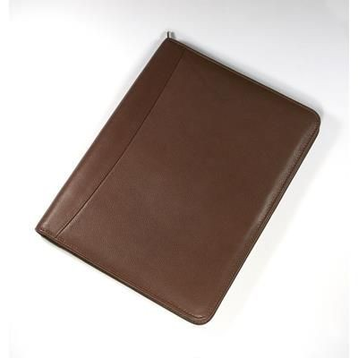 Picture of MELBOURNE NAPPA LEATHER A4 ZIP CONFERENCE FOLDER in Brown
