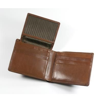 Picture of ECO VERDE GENUINE LEATHER HIP WALLET in Tan