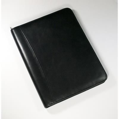 Picture of ECO VERDE GENUINE LEATHER A4 ZIP AROUND CONFERENCE FOLDER