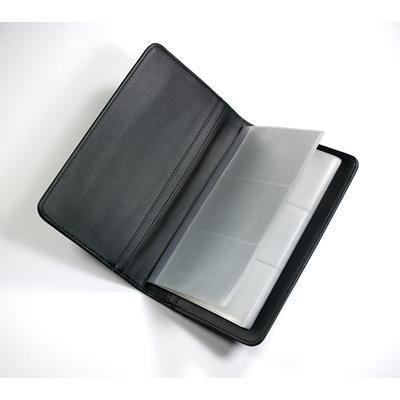 Picture of MELBOURNE NAPPA LEATHER BUSINESS CARD DESK FILE HOLDER in Black Nappa Leather