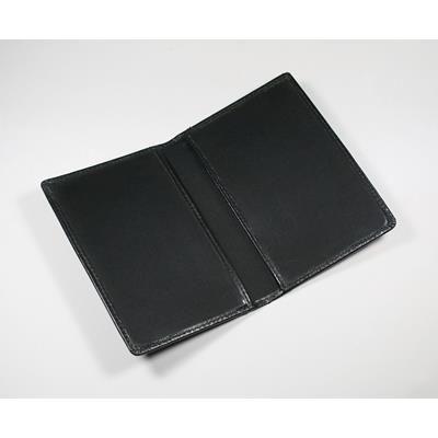 Picture of WARWICK GENUINE LEATHER PASSPORT WALLET in Black
