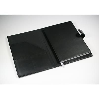 Picture of WARWICK GENUINE LEATHER A5 BOOK COVER in Black