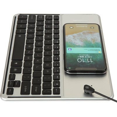 Picture of BLUETOOTH KEYBOARD with Wireless Charger with Panel