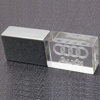 Picture of METAL CRYSTAL STYLE USB FLASH DRIVE MEMORY STICK in Silver
