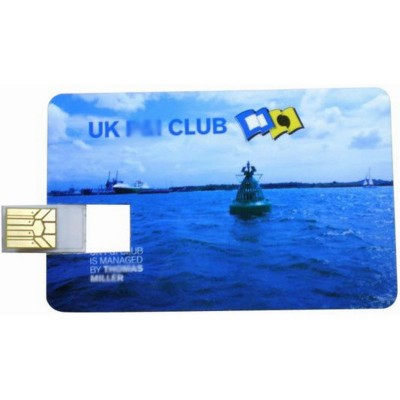 Picture of CREDIT CARD USB MEMORY STICK in White
