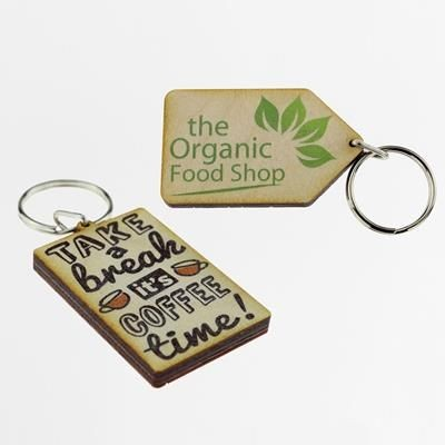 Picture of WOOD KEYRING
