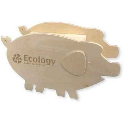 Picture of WOOD PIGGY BANK