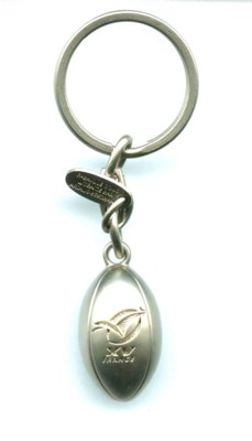 Picture of METAL RUGBY BALL KEYRING