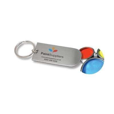 Picture of STAINLESS STEEL PAINT LID LIFTER METAL KEYRING with Curve End