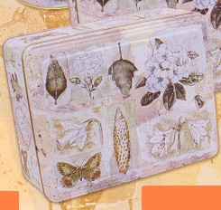 Picture of NATURE TRAIL SQUARE BISCUIT TIN