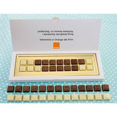 Picture of PERSONAL CHOCOLATE MESSAGE in Gift Box