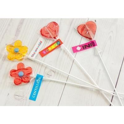 Picture of HEART AND FLOWER LOLLIPOP