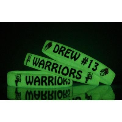 Picture of GLOW-IN-THE-DARK SILICON WRIST BAND