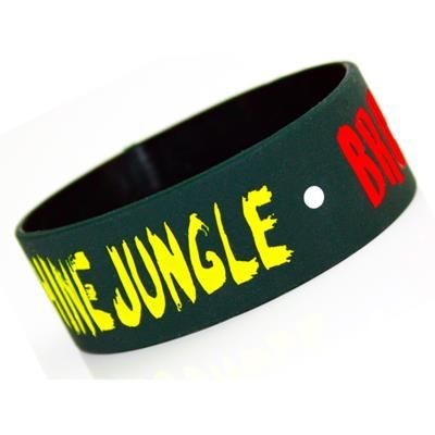 Picture of SILK SCREEN PRINTED, EXTRA WIDE SILICON WRIST BAND
