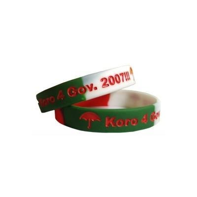 Picture of SILICON WRIST BAND with Recessed & Colour Infilled Logo