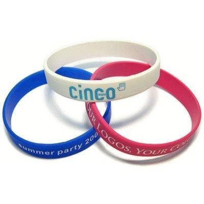 Picture of SILK SCREEN PRINTED SILICON WRIST BAND