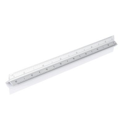 Picture of ALUMINIUM METAL TRIANGULAR RULER - 30CM in Silver