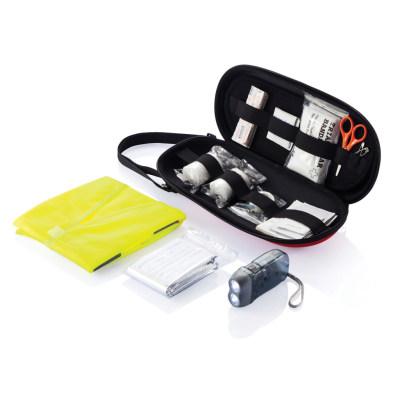 Picture of 47 PCS FIRST AID CAR KIT in Red & Black