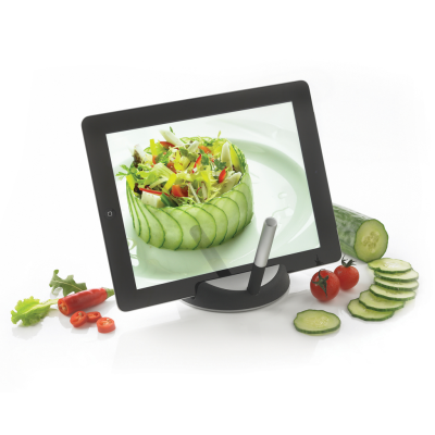Picture of CHEF TABLET STAND with Touchpen in Black & Silver
