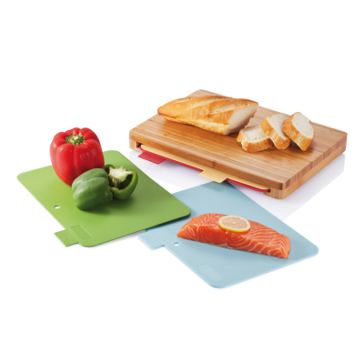 Picture of CUTTING BOARD with 4Pcs Hygienic Boards in Brown