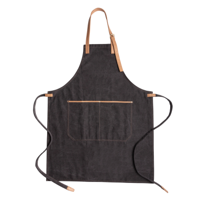Picture of DELUXE CANVAS CHEF APRON in Black