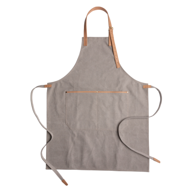 Picture of DELUXE CANVAS CHEF APRON in Grey