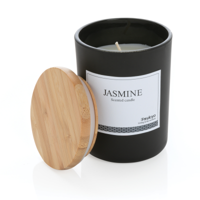 Picture of UKIYO DELUXE SCENTED CANDLE with Bamboo Lid in Black