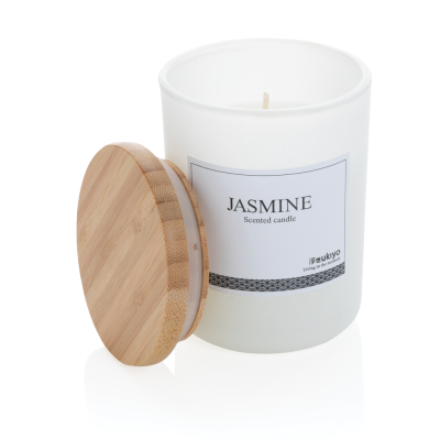 Picture of UKIYO DELUXE SCENTED CANDLE with Bamboo Lid in White