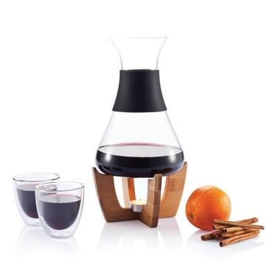 Picture of GLU MULLED WINE SET with Glasses in Black