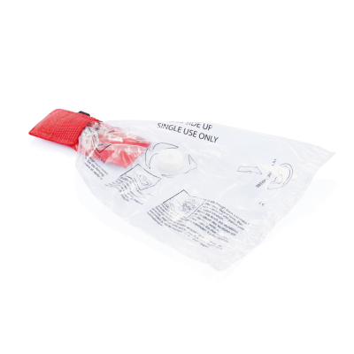 Picture of KEYRING CHAIN CPR MASK in Red