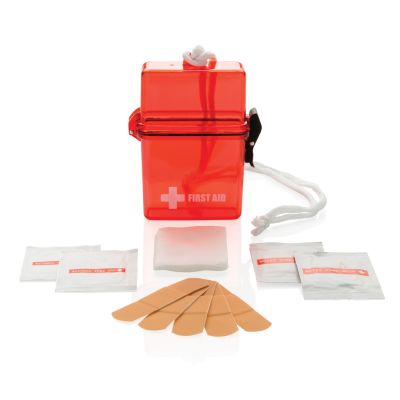 Picture of WATERPROOF FIRST AID KIT in Red