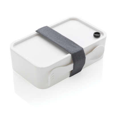 Picture of PP LUNCH BOX with Spork in White