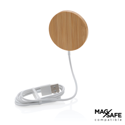 Picture of 10W BAMBOO MAGNETIC CORDLESS CHARGER in Brown