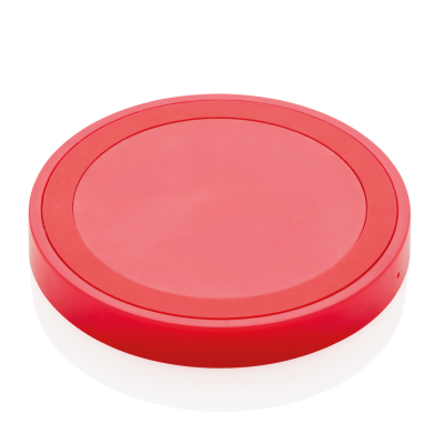 Picture of 5W CORDLESS CHARGER PAD ROUND in Red