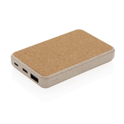 Picture of CORK AND WHEAT 5000 MaH POCKET POWERBANK in Brown