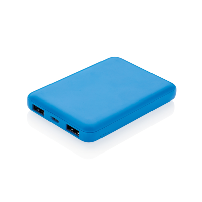 Picture of HIGH DENSITY 5000 MAH POCKET POWERBANK in Blue