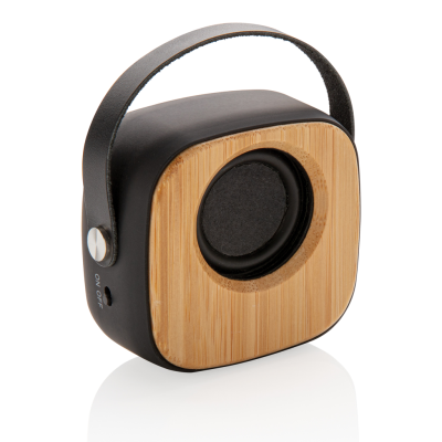 Picture of BAMBOO 3W CORDLESS FASHION SPEAKER in Black