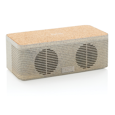 Picture of WHEATSTRAW CORDLESS CHARGER SPEAKER in Brown