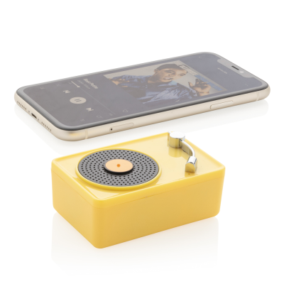 Picture of MINI VINTAGE 3W CORDLESS SPEAKER in Yellow