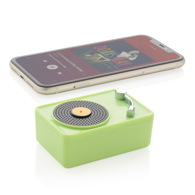 Picture of MINI VINTAGE 3W CORDLESS SPEAKER in Green