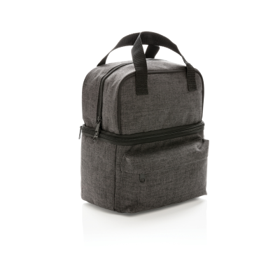 Picture of COOL BAG with 2 Thermal Insulated Insulated Compartments in Anthracite Grey