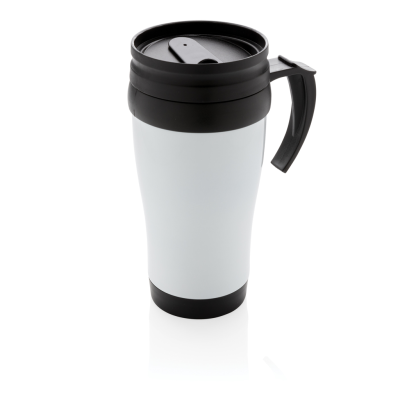 Picture of STAINLESS STEEL METAL MUG in White