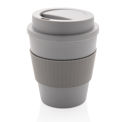 Picture of REUSABLE COFFEE CUP with Screw Lid 350ml in Grey